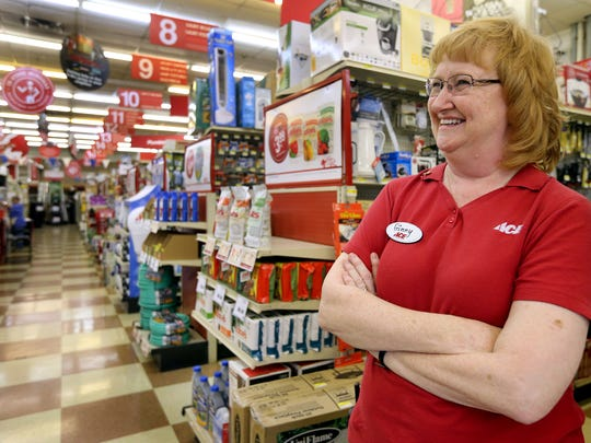 Ginny Williams stands in her store, Gil's Ace Hardware, in Smyrna April 13.