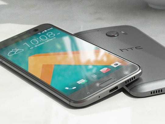 The HTC 10 smartphone.