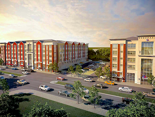 Architect's rendering of Meridia on Westfield.