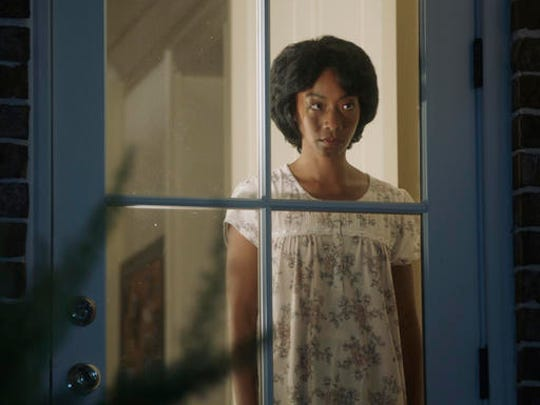 "This image released by Universal Pictures shows Betty Gabriel in a scene from, ""Get Out."""