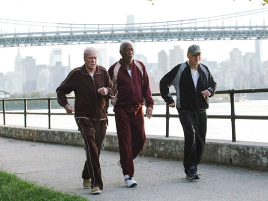 """In this image released by Warner Bros. Pictures, Michael Caine, from left, Morgan Freeman and Alan Arkin appear in a scene from """"Going in Style."""""""