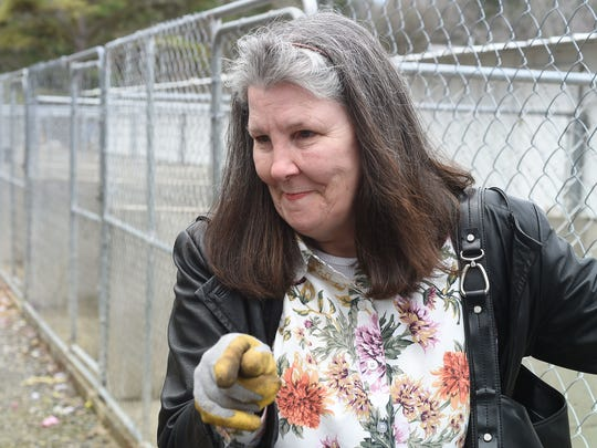 Deborah Duran talks about Perry's Orphans Sanctuary in this 2015 file photo. Duran's father, Perry Boore, owned and operated the animal rescue shelter since 1987. He died March 2, 2015 from injuries suffered in a fire.