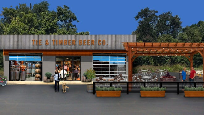 This rendering shows how Tie & Timber Beer would look.