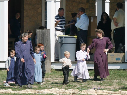 Women and children from the Fundamentalist Church of