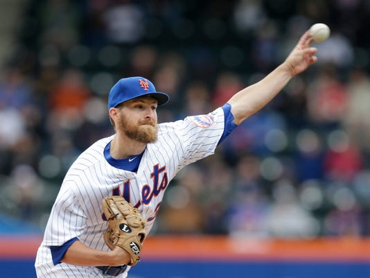 New York Mets starting pitcher Adam Wilk throws during the second inning of a baseball game against the Miami Marlins at Citi Field, Sunday, May 7, 2017, in New York. (AP Photo/Seth Wenig)