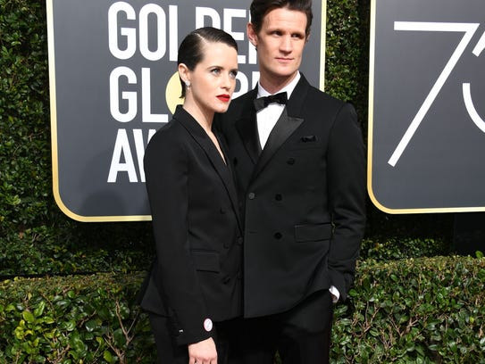 Claire Foy and Matt Smith arrive for the 75th Golden
