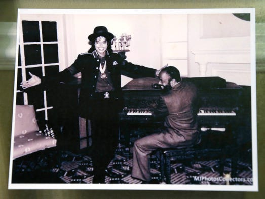 An undated photo shows Michael Jackson with Berry Gordy.
