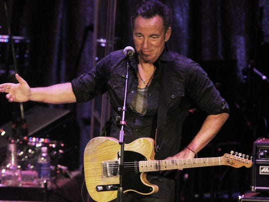 Bruce Springsteen at the 2015 Light of Day festival in Asbury Park.