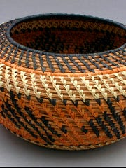 Pine needle basket by Lory Brown