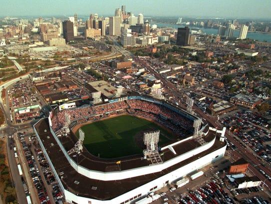 Tiger Stadium in 1999.