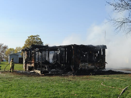 No one was injured in a trailer fire Monday, Nov. 7, 2016, on Apollo Lane.