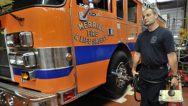 Merrill Fire Department's new equipment and training helped them increase their ISO rating.