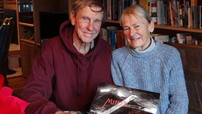 """Phil and Kathy Dahl-Bredine with their new book, """"Milpa! from seed to salsa: Ancient Ingredients for a Sustainable Future."""""""