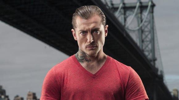 """Keith Diffenderfer, tattoo artist at Rehoboth Beach's Honor and Iron Tattoos, is a contestant on Spike TV's """"Ink Master."""""""