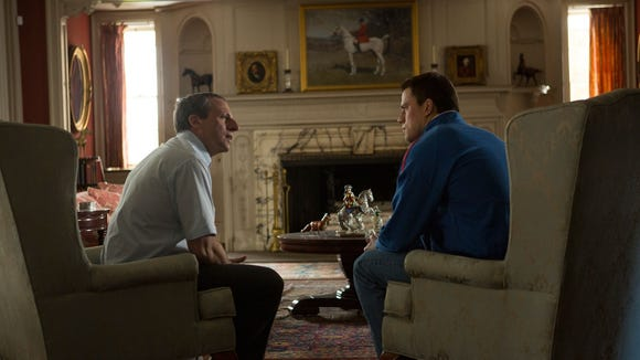 """Foxcatcher"" earned three Golden Globe nominations Thursday morning."