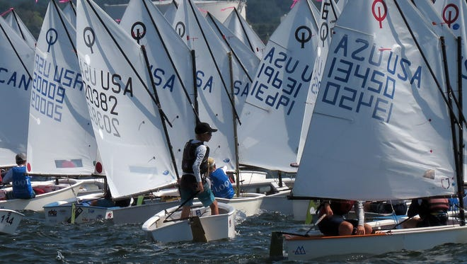 USODA (U.S. Optimist Dinghy Association) National Championship competition from 2018 in Pensacola Bay.