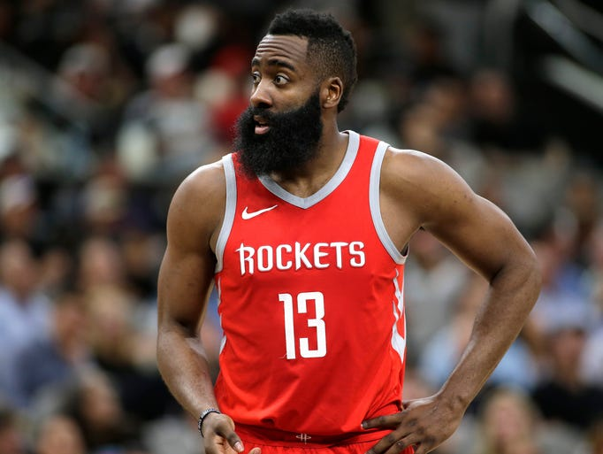 James Harden of the Houston Rockets.