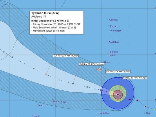 Typhoon In-Fa 7PM Fri