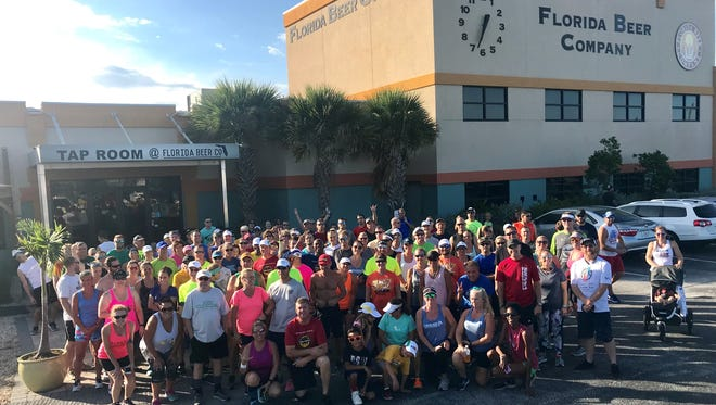 More than 100 runners and walkers turned out for last week's Summer Brewery & Running Tour at Florida Beer Company in Cape Canaveral.