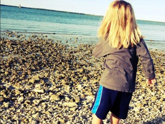 4Garnett at beach from behind