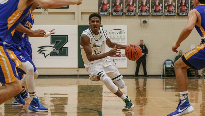 FILE — Isaiah Thompson scored 23 points and hit clutch shots late to help Zionsville get past Hamilton Southeastern on Friday.