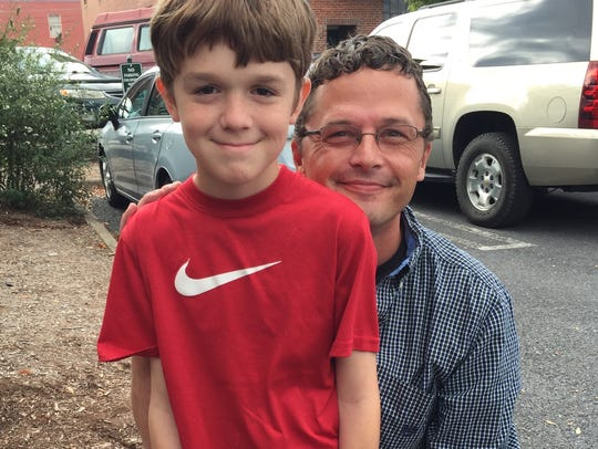 Eli Walker, 41, and his son, Leo Walker, 11, love to
