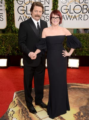 Nick Offerman and Megan Mullally will perform at Comerica Theatre on April 23.