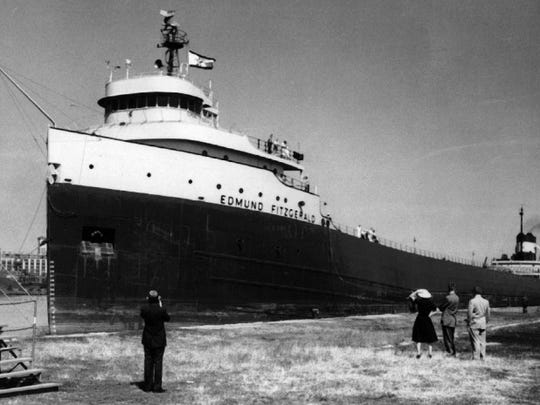 The Edmund Fitzgerald, the Great Lakes freighter immortalized in a song by Gordon Lightfoot in 1975, sank 40 years ago in a Lake Superior storm.