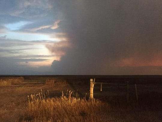 The plume from the Strawberry fire was seen far and wide after it blew up Saturday and Sunday.