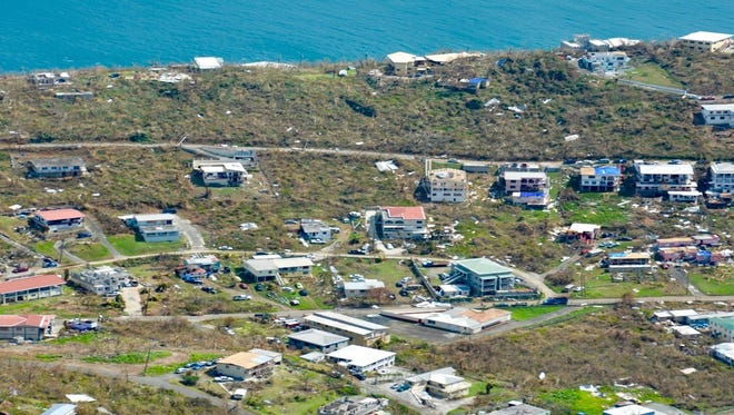 A photograph taken by the Civil Air Patrol's Tennessee Wing shows the damage on part of the U.S. Virgin Islands.