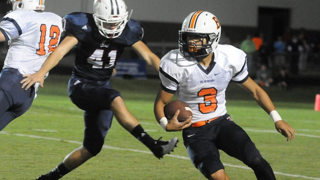 Blackman running back Taeler Dowdy had a career-high 266 yards against Cookeville on Friday and scored four touchdowns.