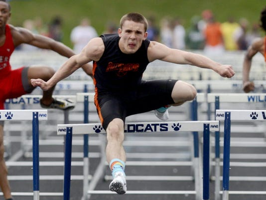 Central York senior Jay Stone is recovering from a leg injury suffered in the Panthers' first scrimmage. He hopes to return in time for track season, where he is the defending District 3 hurdles champion. (DAILY RECORD/SUNDAY NEWS -- KATE PENN)