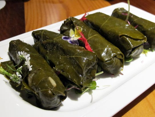 Grape leaves at Kareem's Lebanese Kitchen, which launched