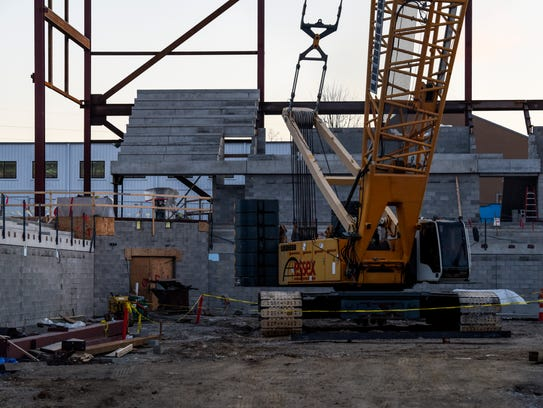 Construction continues on the Physical Activities Center