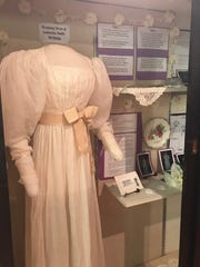 This wedding dress displayed last summer at the Spencer