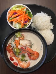 The Cafeteria restaurant located in Harmon Industrial Park  has a special menu just for Lent. This is their seafood tinaktak, made with shrimp, mahi mahi fillets and mussels.