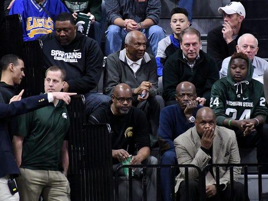 Michigan State coach Tom Izzo and trustee Joel Ferugson