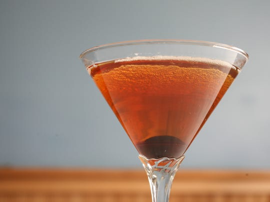 A classic Manhattan cocktail at Ralph and Dave's in Verplank, Jan. 29, 2015.