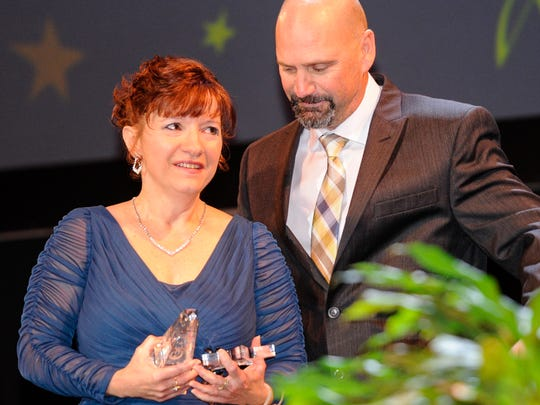 Sandra Laborde Broussard, who teaches Speech and Debate at Comeaux High School, was named Teacher of the Year by the Lafayette Education Foundation in the high school category at their awards ceremony Wednesday..
