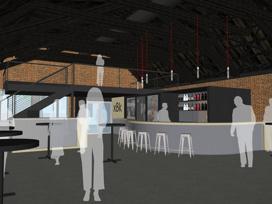 A rendering of xBK, a newly-announced arts and music venue set to open summer 2018 in Des Moines' Drake neighborhood.