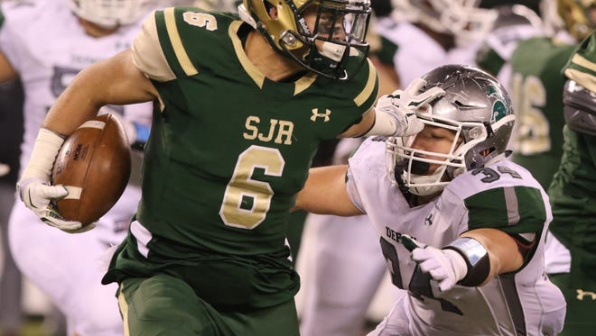 St. Joseph LB Evan Stewart and the Green Knights are looking for their second straight sectional title. The third-seeded Knights will play No. 1 DePaul in the Non-Public Group 3 final on Saturday at Kean University.