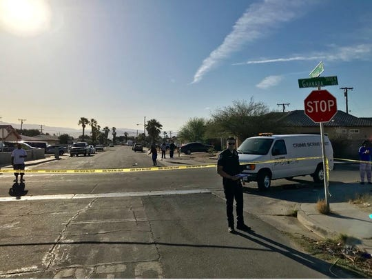 Palm Springs police are investigating a shooting on