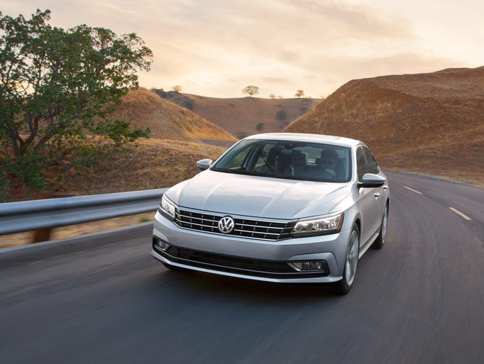 "The 2016 Passat SEL's ""more aggressive styling"" consists"