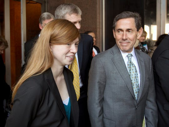 Abigail Fisher and one of her attorneys, Edward Blum,