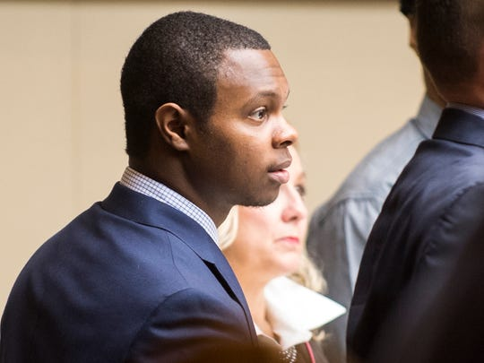 Christopher Bassett during the Zaevion Dobson slaying trial at Knox County Criminal Court on Tuesday, Dec. 5, 2017.