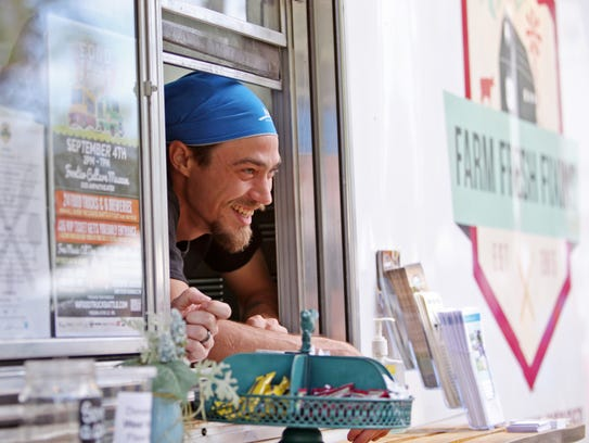 Carter Raab runs Farm Fresh Fixins, a food truck based