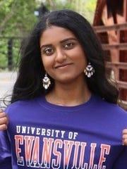 Vaishnavi Ravipati, the daughter of Nanda and Sridevi Ravipati, plans to study neuroscience at the University of Evansville.
