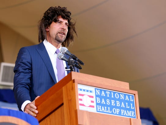 John Smoltz had a lot of fun during his 2015 Hall of