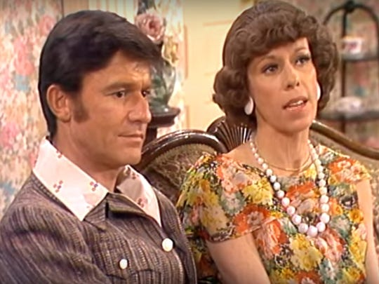 Roddy McDowall and Carol Burnett on The Carol Burnett Show.