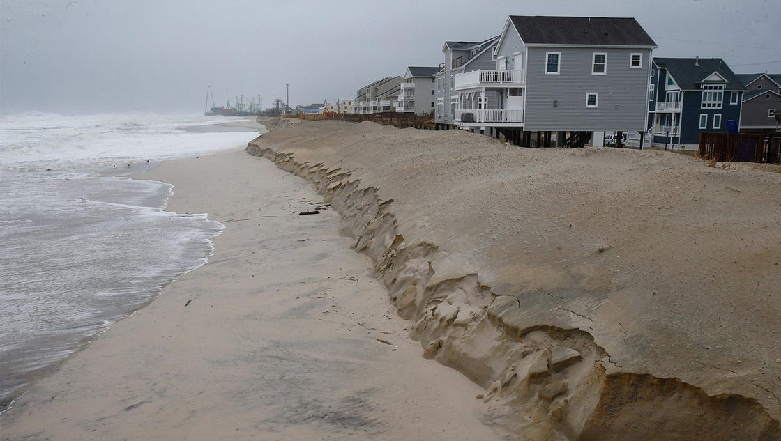 Some erosion seen at N.J. beaches during nor'easter